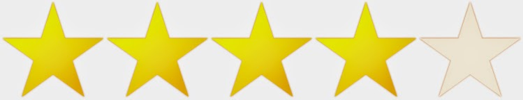 4 stars out of 5 colored in