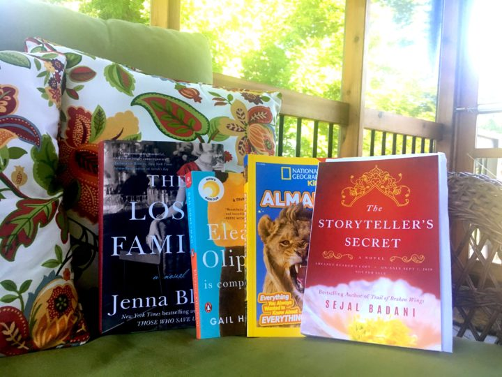 June 2018 Books on the porch