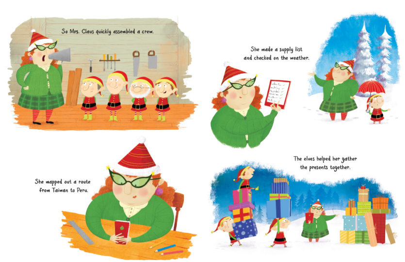 Mrs Claus Takes the Reins page