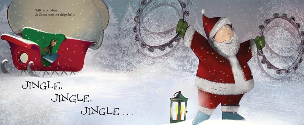 Santa's Story inside page spread