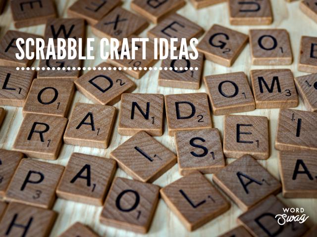 Scrabble Craft Ideas