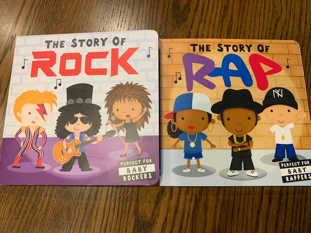 photograph of The Story of Rock and The Story of Rap board books