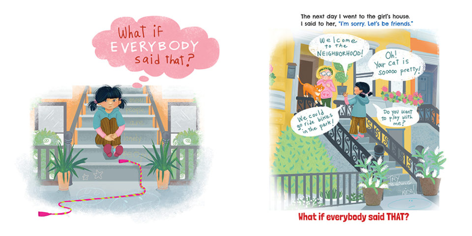 Page Spread from What If Everybody Said That