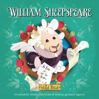 children's board book with a sheep disguised as William Shakespeare