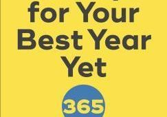 A yellow book cover with the title A Shift A Day for Your Best Year Yet